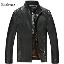 Бесплатная доставка! Новый Мода 2016 года хорошее качество Мужские Кожаные куртки и Пальто для будущих мам Демисезонный нормальный Толщина jaqueta masculina