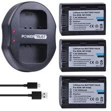 3 шт. 2000 мАч NP-FH50 NP FH50 батареи + Dual USB Зарядное устройство для Sony A230 A330 A290 A390 DSC-HX1 HX100 HX200 HDR-TG1E TG3 TG5 TG7