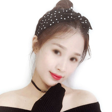 Mellifluous  Hair Accessories Women Cotton Striped Headband Lady Girls Rabbit Ear Hair Bands Bow Knot Hairband Head Wrap стоимость