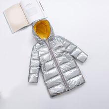 New  2019 Winter Children Parent-child Medium Long Thick Down Jacket Boys and Girls Hooded Warm Face Casual Spacesuit children autumn and winter warm clothes boys and girls thick cashmere sweaters