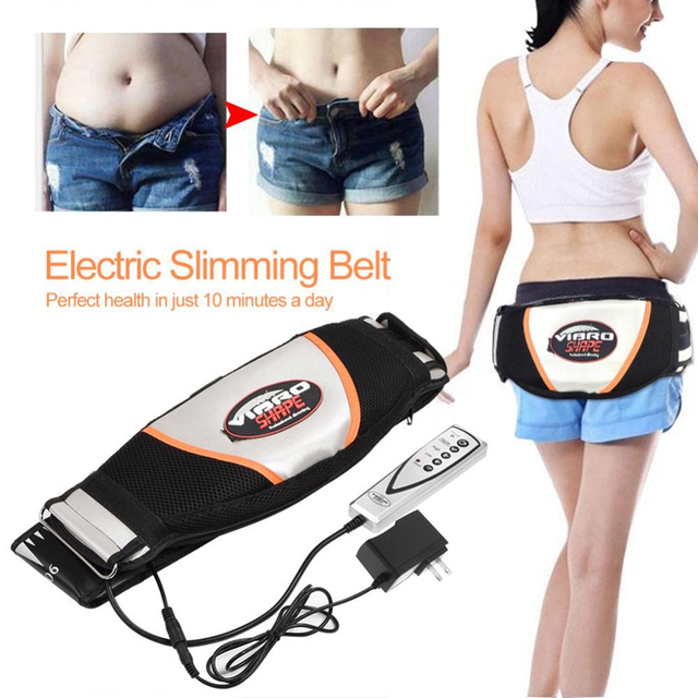 Waist Vibrating Massager, Electric Body Slimming Massager Belt Muscle Burning Fat Weight Losing Trimmer Health Care Tools 2