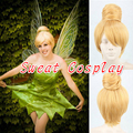 Princess Tinker Bell Wig Tinkerbell Blonde Bun gold Cosplay Wig for Adult