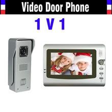 wired 7″ monitor video door phone intercom system Video doorbell Intercom Kit IR Night Vision waterproof Aluminum alloy camera