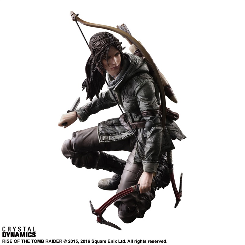 Image 4 - Экшн фигурка Kai, Raider Rise of Tomb Raider Lara Croft, ПВХ, Коллекционная модель игрушки 27 смИгровые фигурки и трансформеры    АлиЭкспресс