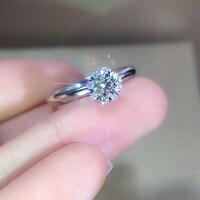 EDI настоящее кольцо натуральный бриллиант GIA 18 К белого золота 0.3ct F/VS Алмаз Halo небольшой талии обручение обручальное подарок для женщин