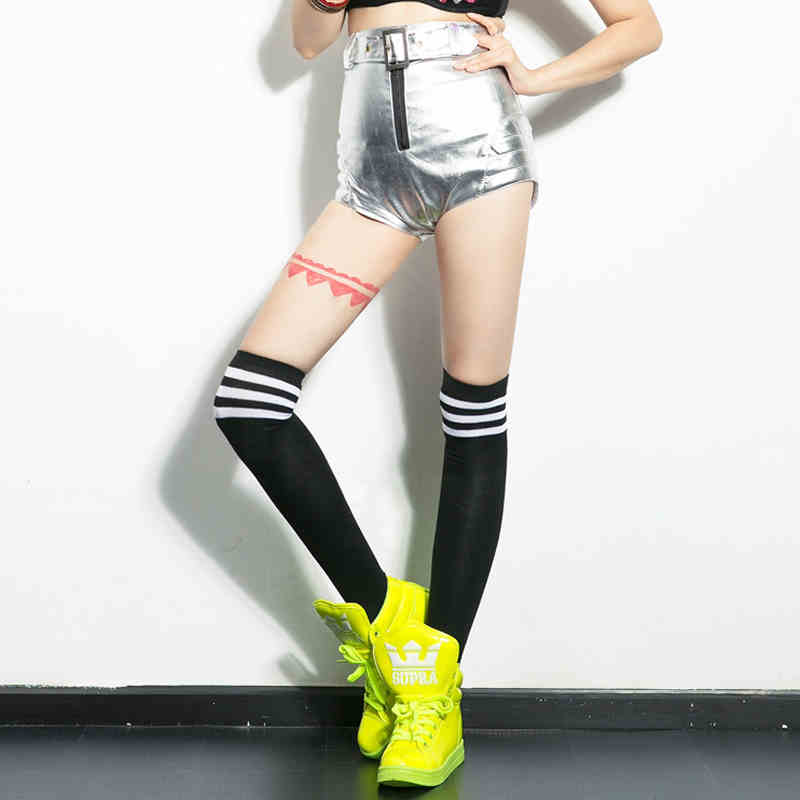 New DS Nightclub Shorts Performance Costumes Lead Dancers Jazz/Hip-hop Sexy High Waist Dance Clothing Party Short Pants S-XL