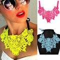Collar de Gargantilla de encaje 2016 Crystal Collar Llamativo Collar Mujeres Cinta Maxi Collares Colgantes de Joyería de Las Mujeres