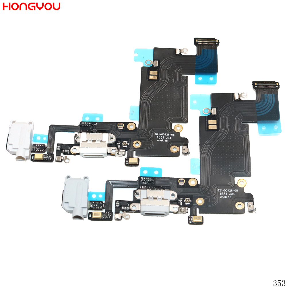 USB Charging Port Connector Charge Dock Socket Jack Plug Flex Cable With Headphone Audio Jack For <font><b>6S</b></font> Plus 6SP 5.5inch image
