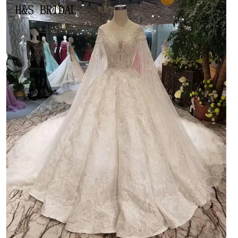 Wedding Gown Wraps: H&S BRIDAL Vintage Ball Gown Wedding Dress Plus Size Satin