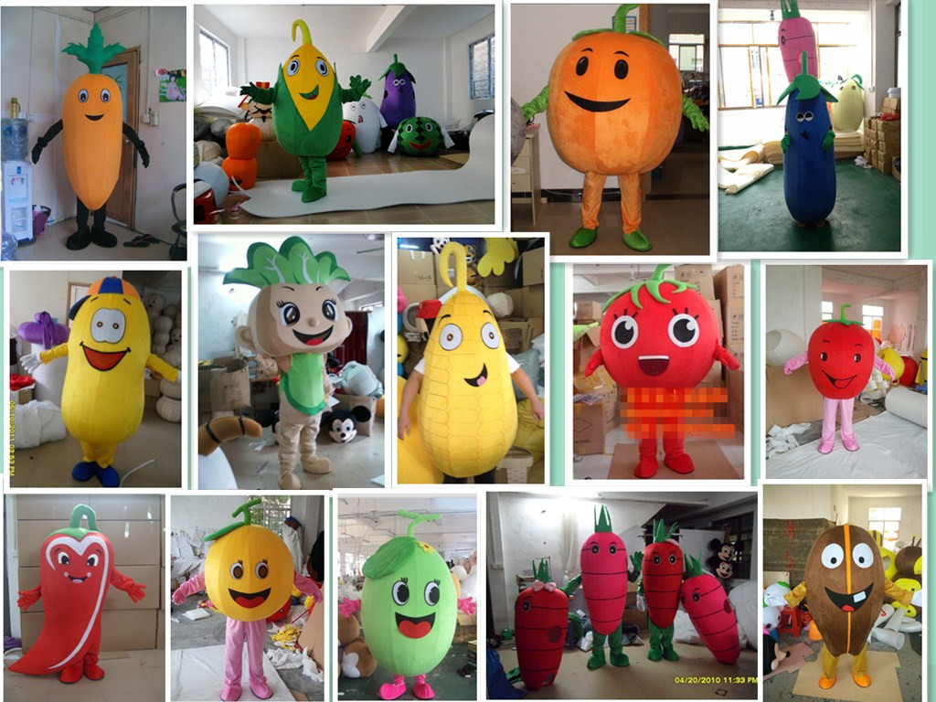 Vegetables Theme Anime Cosplay Costumes Red Tomato Mascot Pepper Pumpkin Cabbage Corn Peanut Bean Potato Carnival Fancy Dress