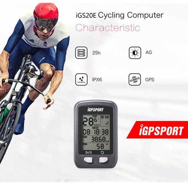 GPS Cycling Computer iGPSPORT iGS20E Smart Waterproof  IPX6 MTB Road Bike Computer Sport Speedometer Mileometer for Cyclist