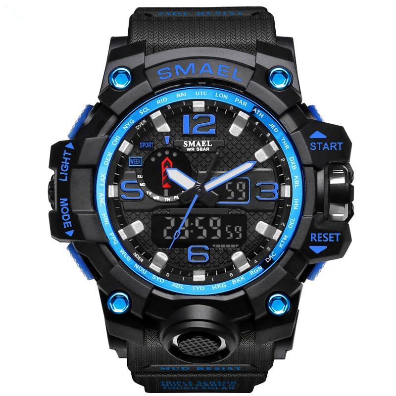 New 2017 Digital-watch Men Sports Watches Swim Waterproof Fashion Casual Digital LED Military Multi-Function Luxury Wristwatches
