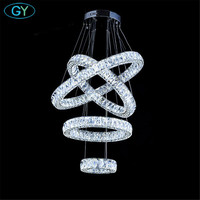 Modern Crystal Chandelier Lighting Luxury Led Chandeliers Lamp Suspended Light Lustres De Cristal Leds DIY Lamp