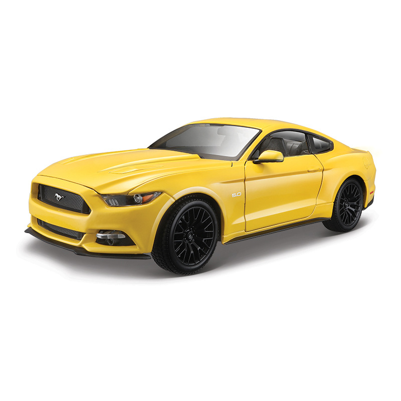 1 18 Simulation diecast alloy sports car model toy For mustang with Steering wheel control front