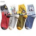 Novo conto de fadas dos desenhos animados listrados animação totoro sox outono summer para o sul coreano das mulheres de moda de algodão meias tubo meias soks