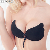 BEFORW Sexy Women LB Bra Seamless Push Up Invisible Bra Self-Adhesive Sticky Big Size D Cup Bra Strapless Fly Bra Party lingerie