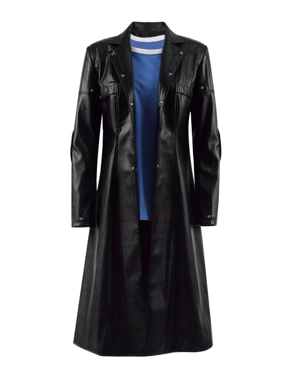 Alita Battle Angel Cosplay Costume Alita T-shirt Black Pu Jacket Women Halloween Cosplay
