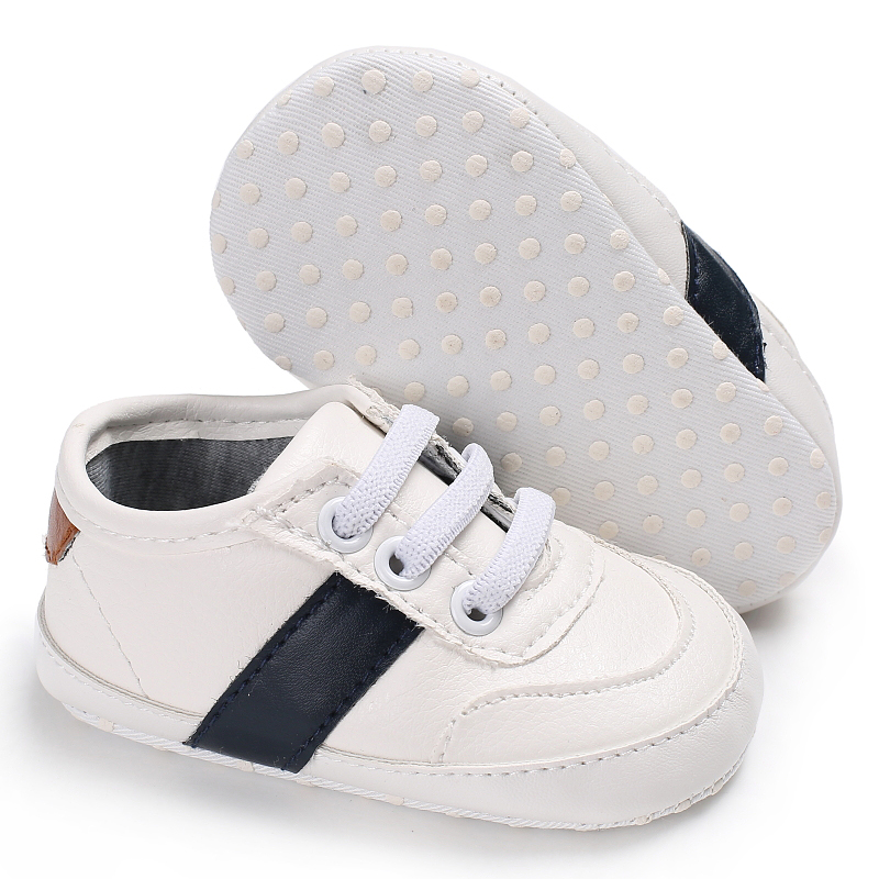 PU Leather white Black Baby Sport Sneakers Infants Prewalker Running Shoes Bebe Kids Newborn Todders 11-13cm Length Hot sell