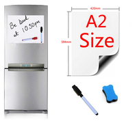 A2 Size 420x594mm Magnetic Whiteboard Fridge Magnets Presentation Boards Home Kitchen Message Boards Writing Sticker 1pen1eraser