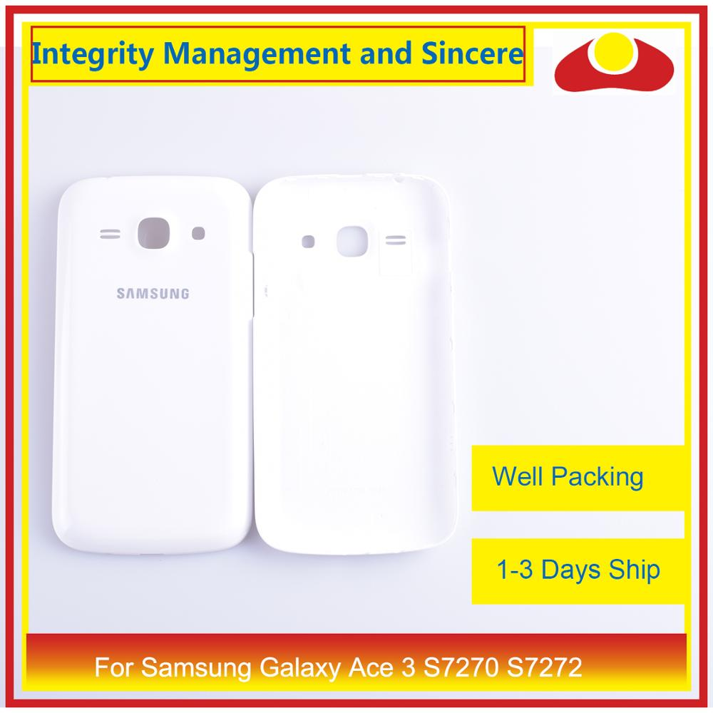 For Samsung Galaxy Ace 3 S7270 7270 S7272 S7275 S7275R Housing Battery Door Rear Back Cover Case Chassis Shell Replacement in Mobile Phone Housings Frames from Cellphones Telecommunications
