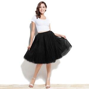 Image 4 - Adult Tutu Petticoat Performance Modern Dance Skirt Princess Fluffy Tulle Ballet Skirt Fairy Net Underskirt Size S to 5XL 12021