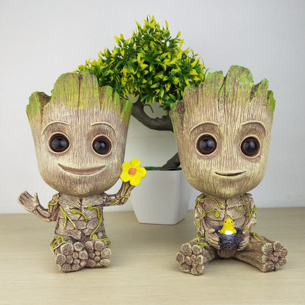 2 Pieces Of Tree Man Grout Multifunction Decoration Resin Personality  Creative Coffee Table Desktop