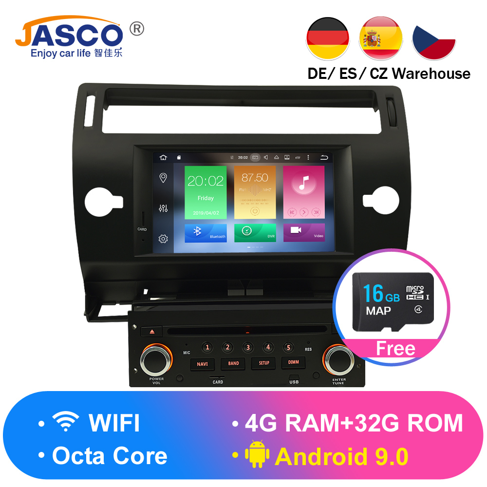 Android 9.0 Car DVD Player GPS Glonass Navi for Citroen C4 C-Triomphe C-Quatre 2005 2006 2007 2008 2009 Radio Audio StereoAndroid 9.0 Car DVD Player GPS Glonass Navi for Citroen C4 C-Triomphe C-Quatre 2005 2006 2007 2008 2009 Radio Audio Stereo