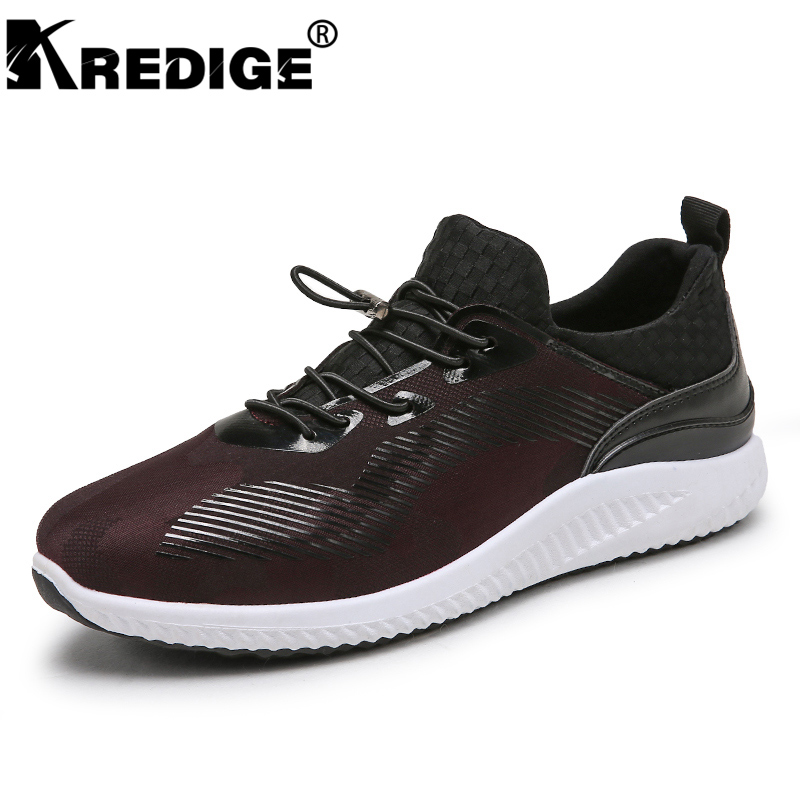 KREDIGE breathable men's leather casual shoes adjustable elastic band comfortable elasticity shoes hard-wearing mesh shoes 39-44 kredige anti odor zip tide leather shoes hard wearing mens casual shoes pu breathable waterproof plate shoes british style 39 44