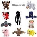 2017 Новый Minecraft Плюшевые Игрушки Enderman Ocelot Свинья Овец Bat Mooshroom Squid Паук Волк Животных мягкие куклы детские игрушки подарок