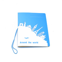 ISKYBOB World Trip Map Travel Passport Covers Leather ID Card Bag Passport holder Passport Wallets Passport & ID Holders
