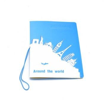 ISKYBOB World Trip Map Travel Passport Covers Leather ID Card Bag Passport holder Passport Wallets Passport & ID Holders