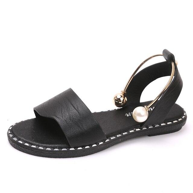 Women Sandals 2018 Summer Gladiator Sandals Soft Leather Sandal Shoes Women Ladies Flip Flop Flats Heel Sandalia Plataforma
