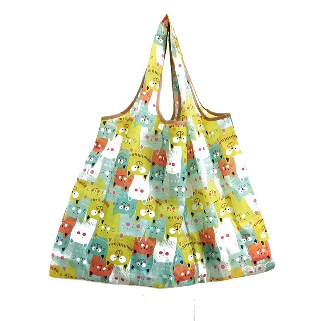 Recycle Storage Grocery Foldable Handy Ping Bag Reusable Tote Pouch Handbags