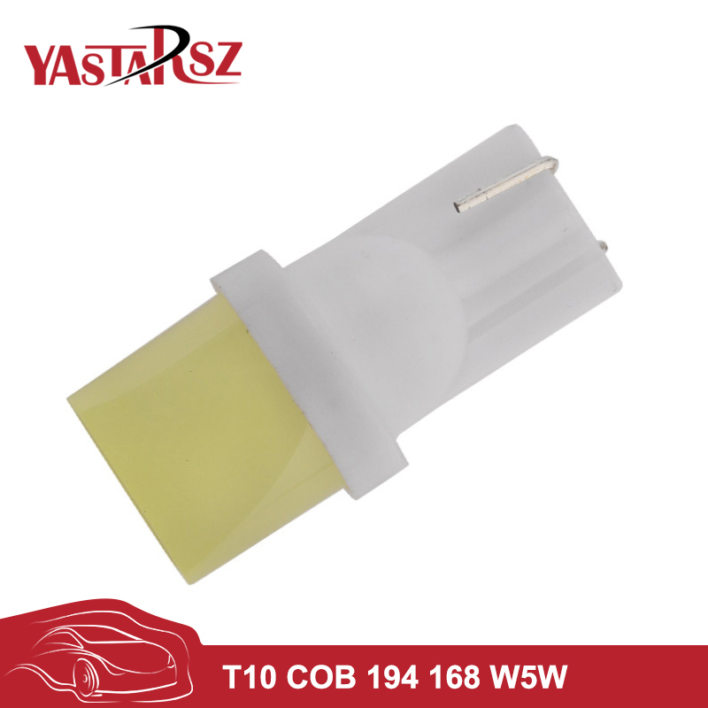 4pcs Car led 12V T10 cob 194 168 W5W 1.5W Ceramic Shell Super Bright White Car Auto Wedge Side License Plate Lights Lamp Bulb