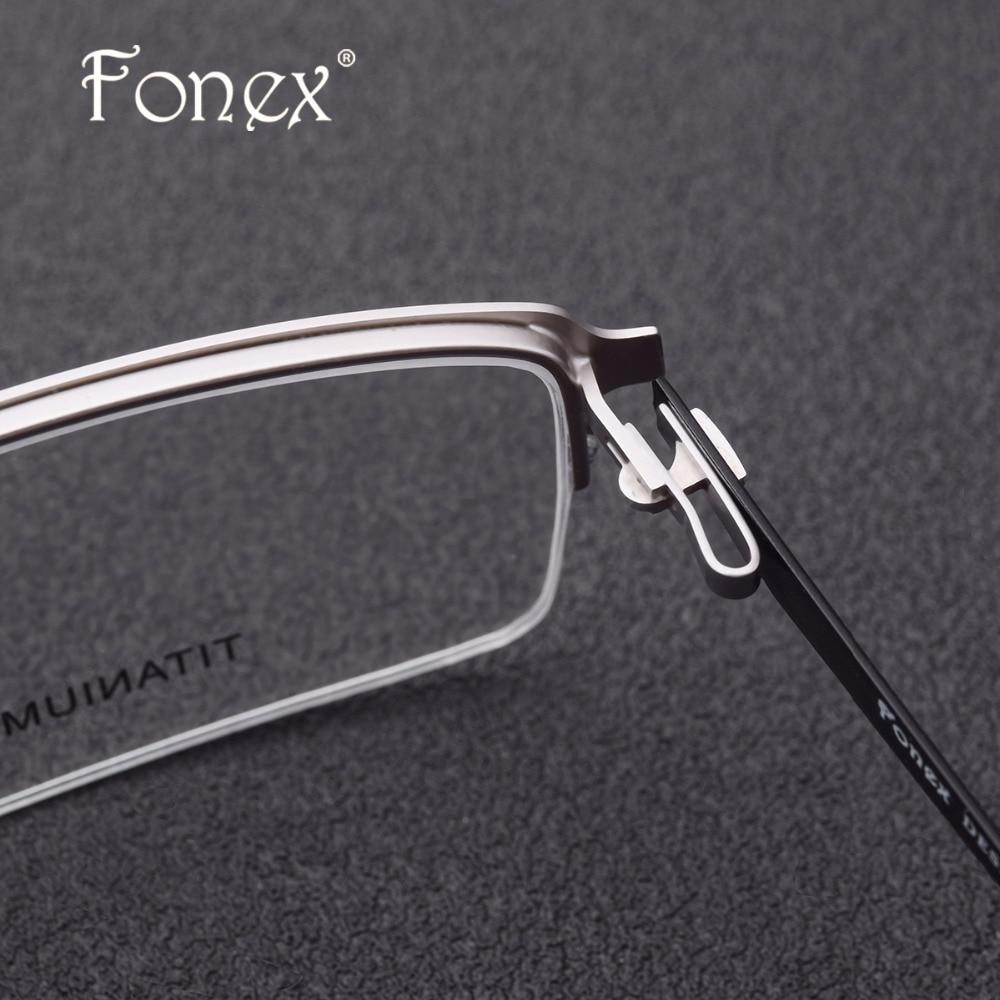 Legierung Halb Männlichen Optische Halben Randlose Quadratmeter Myopie Brillen Augen Schraubenlose Rahmen Männer Titan dvqwv