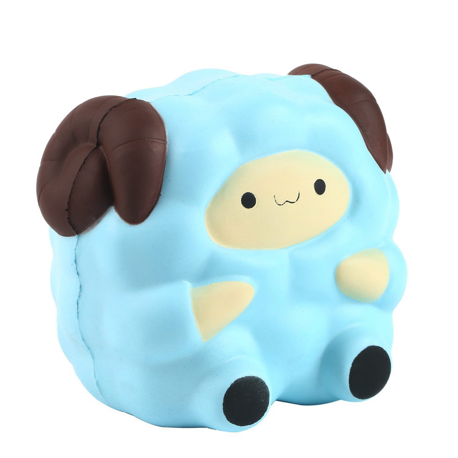 Cute Squishy Sheep Cream Scented Slow Rising Stress Relief Kids Squeeze Toy blue