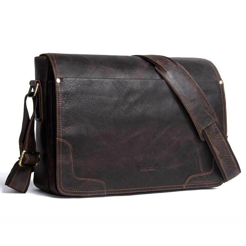 NEW Genuine Leather Bag Men Shoulder Bags Male Messenger Bag Leather Handbags sacoche femme Crossbody bag