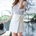 Femenina Falda Lápiz de Cintura Alta de la Cadera del Paquete Mini Falda Delgada Bodycon Falda OL Señora Carrera Falda Más Tamaño Ropa de Mujer