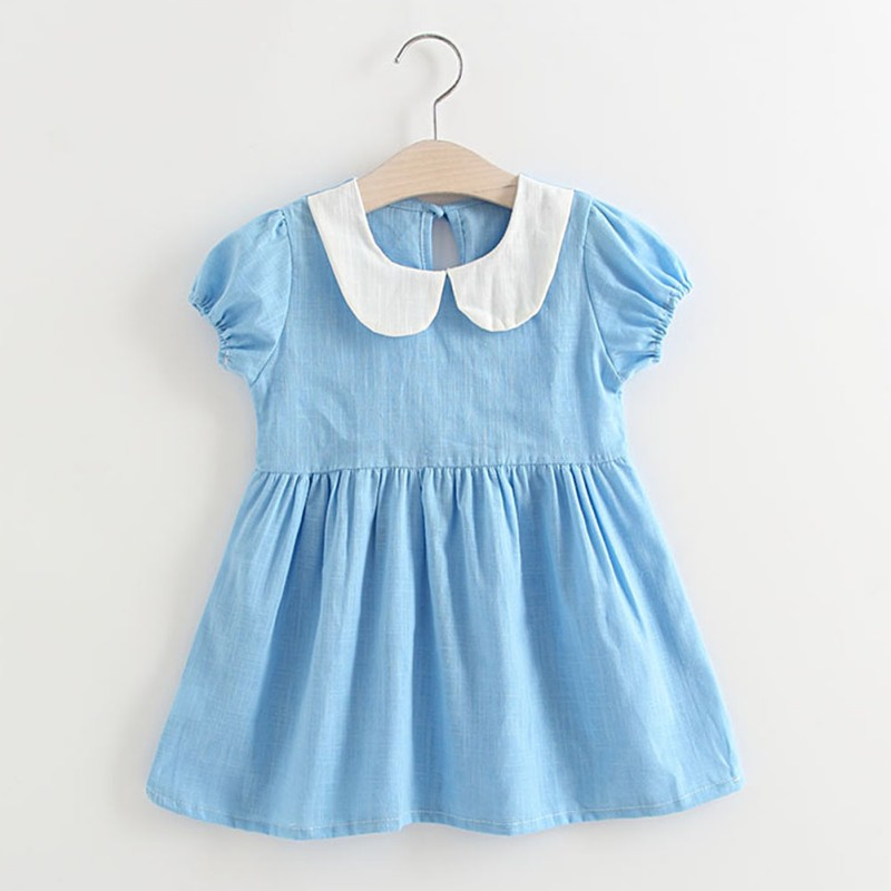 4a352cd24 Vestido de bebé niña verano bebé lindo vestido de algodón vestido de cumpleaños  infantil bebé ropa bonita 1-5 años ropa