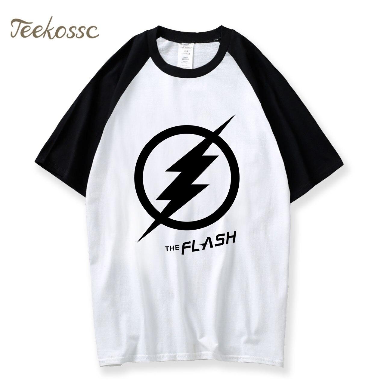 The Big Bang Theory T-Shirt The Flash Printed T Shirt 2018 Summer Fashion Raglan Casual Tshirts Cotton Short Sleeve Crossfit Tee