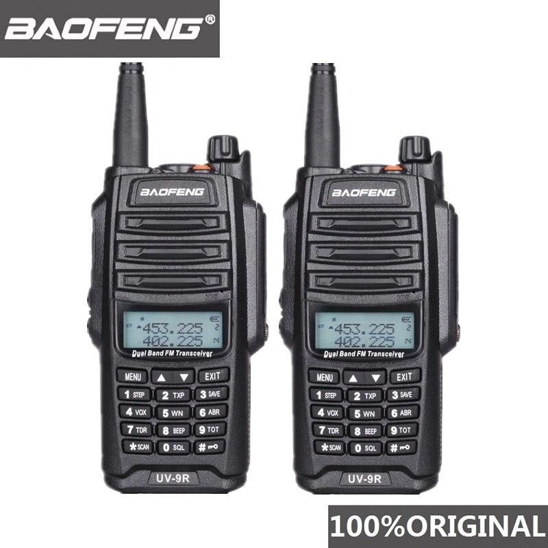 2Pcs Original Baofeng UV 9R Walkie Talkie 10 km IP67 Waterproof Dual Band UV9R Ham Radio