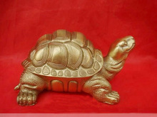 Cute Bronze Brass Fengshui Turtle Statue Figure 6W vases sculpture, Garden Decoration