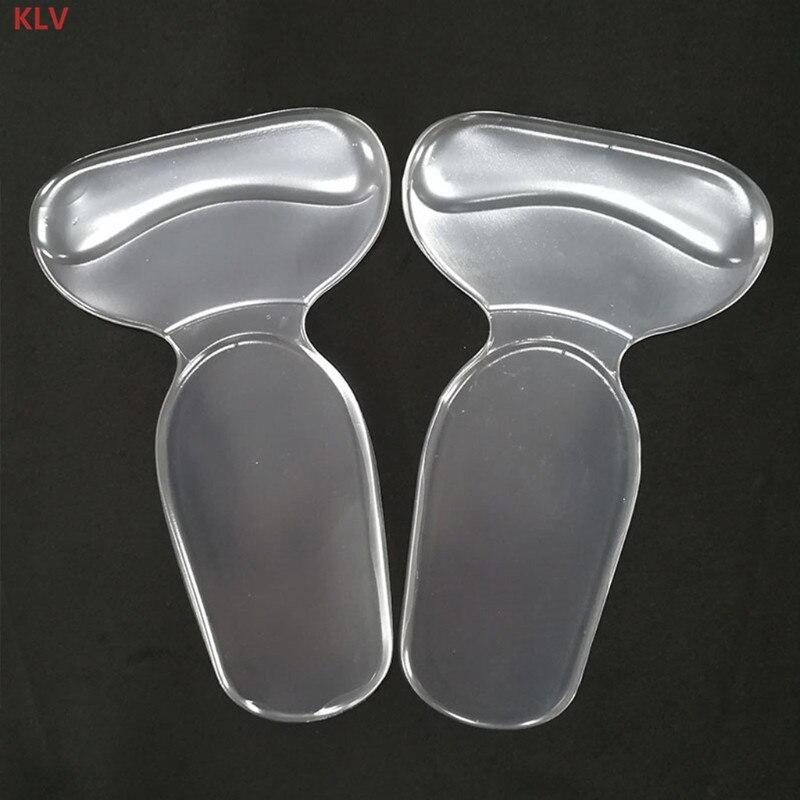 KLV Silicone Gel Soft T Shape Heel Sticker Wear Proof Anti Slip With Thicken CushionKLV Silicone Gel Soft T Shape Heel Sticker Wear Proof Anti Slip With Thicken Cushion