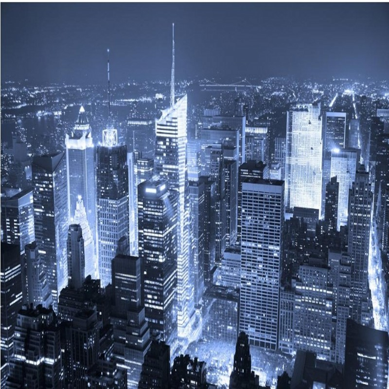 Us 885 41 Offbeibehang Personalized Custom Wallpaper Manhattan New York Times Square Night View Bedroom Living Room Tv Background Wall In