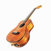 23 дюймов Профессиональный Гавайская гитара все из массива дерева сладкий Акация КоА 4 strings Гавайский мини гитара электрическая Ukelele 23 с пика