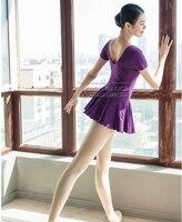 Sıcak satış siyah mor mavi kırmızı yeşil pembe giyim bale leotard egzersiz kız dans elbise dress yetişkin