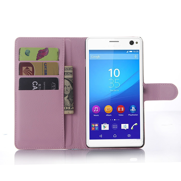 new styles 696b8 a21d1 US $3.99 |For Sony Xperia C4 Leather Flip Case Cover For SONY C4 Holster  Bags Business Phone Case With Card Slot Wallet Stand Holder on  Aliexpress.com ...