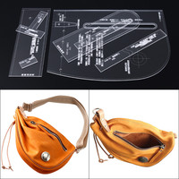 Acrylic Stencil Laser Cut Template DIY Leather Handmade Craft Shoulder Bag Sewing Pattern 28*36*8cm