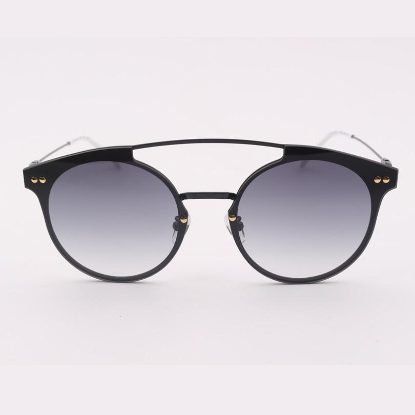Hohe sonnenbrille Fashion Brand Rahmen Licht Designer Gradientenlinse Schwarz Grau Frauen Qualität 080SA