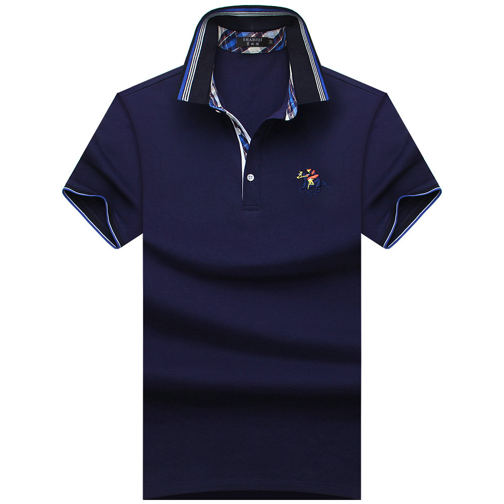 2018 NEW 6 Color Mens   Polo   Shirt Brands Casual Solid   Polo   Shirts Brand Clothing men Short Sleeve Poloshirt Summer S-10XL